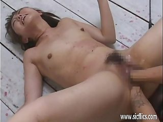 Brutal double anal and pussy fisting orgasms