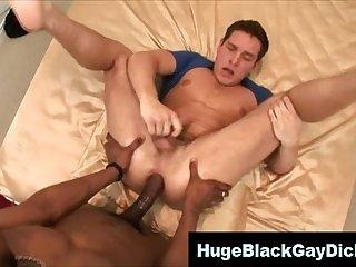 Gay big black cock interracial