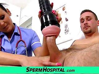 Mom with boy tugjob at hospital feat uniform milf Nora