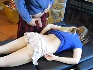 dad massage daughter - Claire Heart