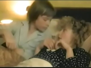 Mom son family porno in vintage movie clip