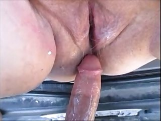 Hot Pregnant Mom Gets Fuck In Car & Creampie Inside