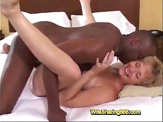 Blonde Slut Wife Takes BBC Creampie in Las Vegas Hotel for