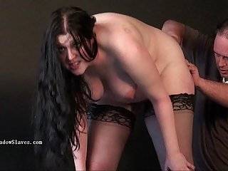 Chubby runts big breast whipping and hardcore bdsm of amateur slave girl Emma