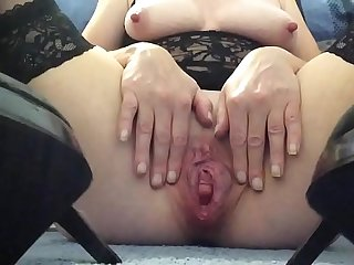 Playing in my fuck me shoes!
