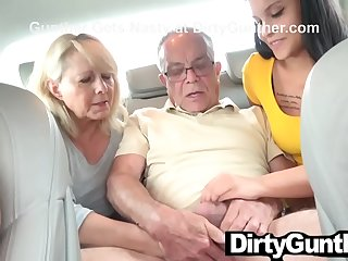 Mother and Daughter Take Care of Old Gunther
