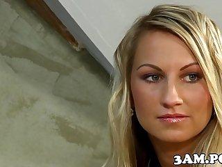 Czech escort giving blowjob before cockriding