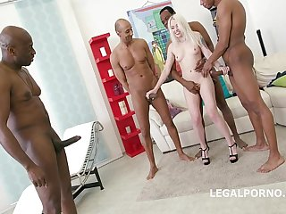 Lola Taylor gets Balls DeepAnal and Deepthroat punishment by 4 BBC's!