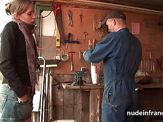 Amateur blonde hard ass hammered outdoor in dirty farm