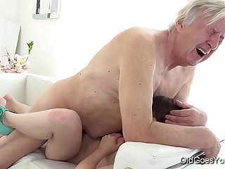 Old Goes Young - Luna Rival gets fucked while she vacuums the rug