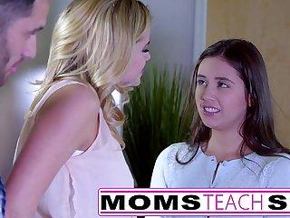 MomsTeachSex - Showing My Teen Daughter How To Suck Big Cock
