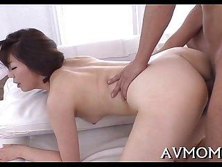 Slut mother i'd like to fuck oriental sucks on hard cock