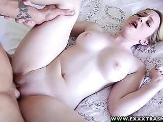 ExxxtraSmall - Petite Shaved Alexia Gold Taking a Huge Dick